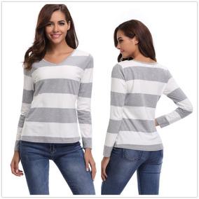 Partido Fácil Superior Blusa Rayas Camiseta De Punto... (s) por eBay 3f81c9642af0a