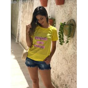 Kit 25 T-shirts Blusas Femininas Atacado Revenda Roupas 6471ff91173f1