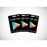 Tarjeta De Regalo Google Play 20$
