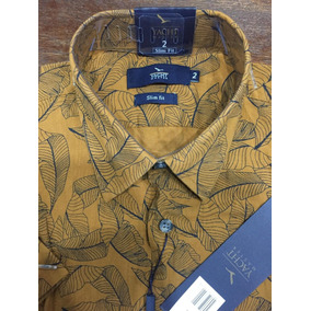 Camisa Casual Yacht Master Floral Gola Pequena