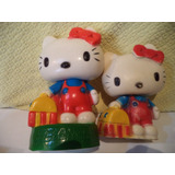 Hello Kitty Alcancia Y Figura Chillona 18 Y 14 Cms Mexico