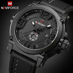 Relógio Naviforce De Luxo Pulseira De Couro