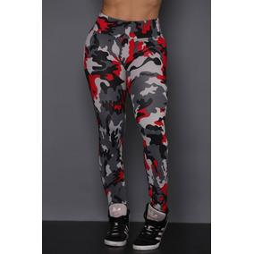 Calça Legging Feminina Camuflada Exército Fitness 89c7a42b8d2