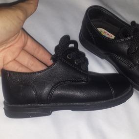 Zapatos Negros Casuales O Escolares Para Niño Talla 25