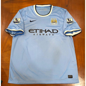 0ab1f44cb7f32 Jersey Manchester City 2013 Local Xl Kun Agüero Parches Nike