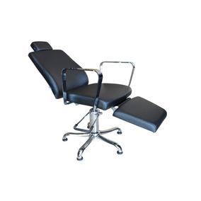 Cadeira Poltrona Croma Reclinável Maquiagem E Sobrancelha