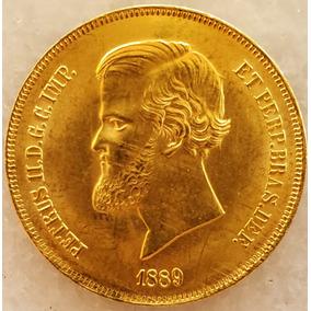 Moeda De Ouro 20000 Réis Ano 1889, Última Do Império Brasil