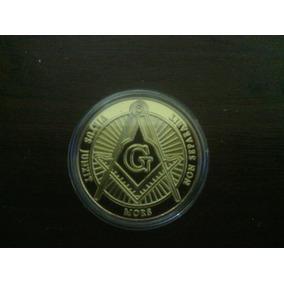 Uma Medalha Toda Dourada Diâmetro 40 Mm. No Encar - Maçon