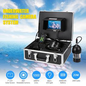 1000tvl Bajo Pesca Cámara Portátil Impermeable 36 Leds 360
