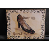 Placa Madera Retro Chic Shoes By Celeste Peters Vintage