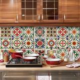 Adesivo Azulejo Hidráulico Promoção Cozinha 15x15 30 Pçs