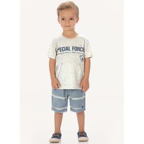 Conjunto Up Baby Camiseta E Bermuda Cinza