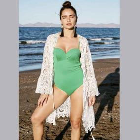 Capa Kimono De Encaje Para Playa Dama 2019