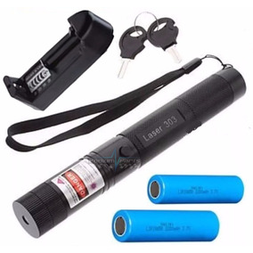 Super Caneta Laser Pointer Verde 98.000mw Forte + 2 Baterias