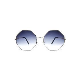 Lente De Sol Octagonal Color Gris, Glasses G3, Pop8655
