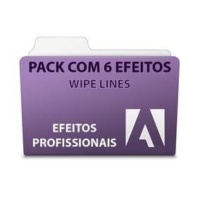 Pack 6 Com Efeitos Wipe Lines - Adobe Premiere