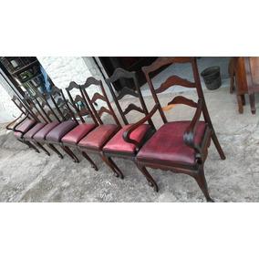 Antiga Mesa Estilo Provençal,mais 8 Cadeiras