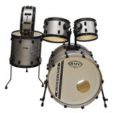 Bateria Acustica Rmv Crossroad 5 Cpos Color Plata + Parches