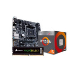 Kit De Actualización Amd Ryzen 5 2400g Ram 8gb Ddr4 Corsair