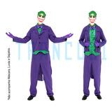 Fantasia Coringa Adulto Roupa Joker Batman Cosplay Halloween