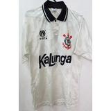Camisa Corinthians Oficial Ano 1991 Finta Kalunga Rarissima 586724fce761e