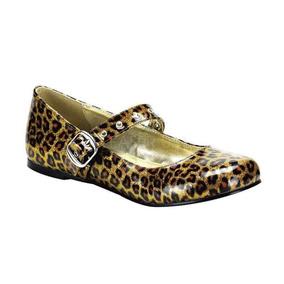 Flats Daisy-04 Demonia Leopardo Glitter Pinup Rockabilly 0ae4538831c