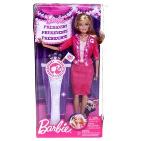 Boneca Barbie Quero Ser Presidente Mattel / Ano 2011
