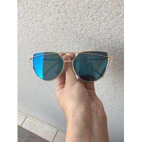 Oculos Gatinho Espelhado Preto Uv400 - Óculos no Mercado Livre Brasil e6c17e8aea