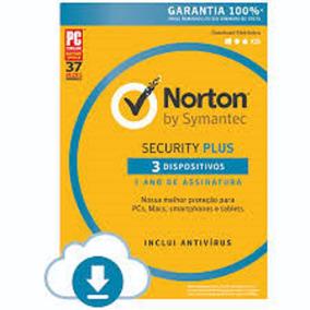 Norton Security Plus 1 Ano 3 Pc .. Leia Com Atencao