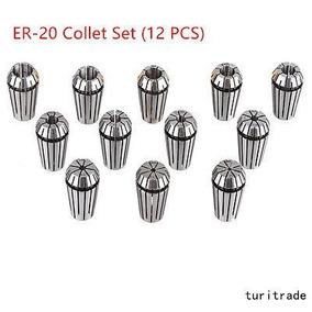 Nueva Primavera De 12pcs Er20 Collet Set Cnc Fresadora -5522