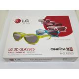 f4379a8371f64 Kit 6 Óculos 3d Tv Cinema Ag F520 F420 Lg + 2 Dual 3d Play