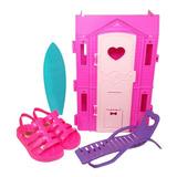 Sandália Infantil Barbie Casa De Praia Grendenekids Frete