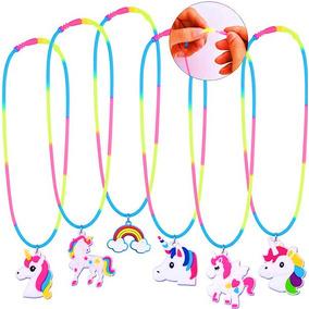 12 Collares De Unicornios Coloridos Fiesta Regalos