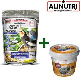 Alimento Pássaros Psitacídeos 350g + Papa Revitalizante 80g