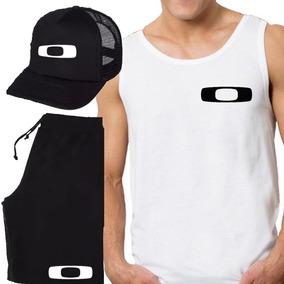 Kit Bermuda+boné + Camiseta Regata Oakley Esportivo dc3ebd24212