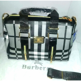 Bolsa Para Dama Burberry Negro/gris