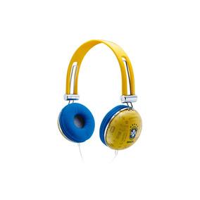 Fone De Ouvido Soft Gloves / Cbf Azul Ou Amarelo