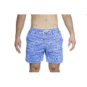 Traje De Baño-hombre-olas Azules