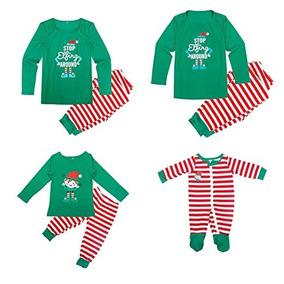 Pijama Navideña Adulto Rojo Verde Navidad Camidy 3