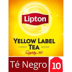 Té Negro Saquitos Lipton Yellow Label 10 Saquitos