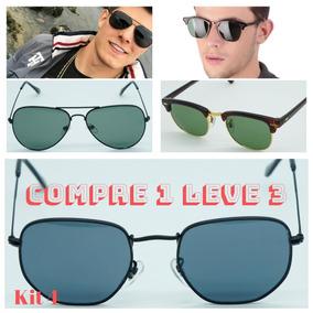 Promoção Óculos Sol Aviador Lentes Preta Ou Café De - Óculos no ... 2b6ab0a120