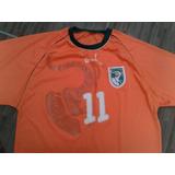 Camisa Futebol Da Seleção Da Costa Do Marfim Drogba   11 M 49f2c2be16e02