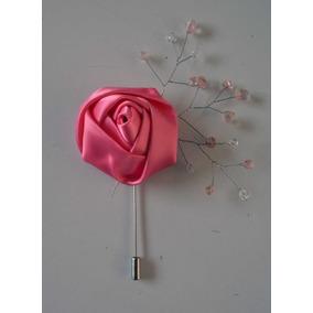 Azar Novio Boda Boutonniere Rosa Cristales Prendedor Xv Paj