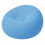 Sillon Inflable Puff Azul Super Cómodo Cdmx Df