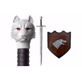 Espada Game Of Thrones Jon Snow Com Suporte Parede 107cm