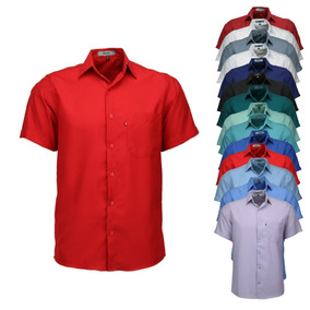 Camisa Uniforme - Camisa Manga Curta Masculinas no Mercado Livre Brasil 59b2238eb2830