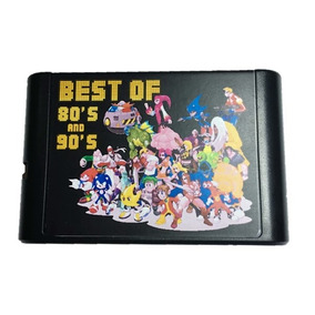 Cartucho Mega Drive 196 Jogos! Aladdin, Castle Ilusion Sonic