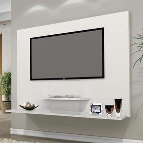 Painel Tv Don 42 Pol Prateleiras Flex Color Branco/amendoa