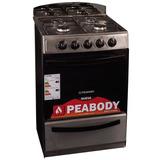 Cocina 4 Hornallas Doble Vidrio Peabody Clásica Inox *10