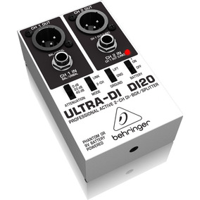 Direct Box Ativo Ultra 2 Canais Behringer Di-20original
